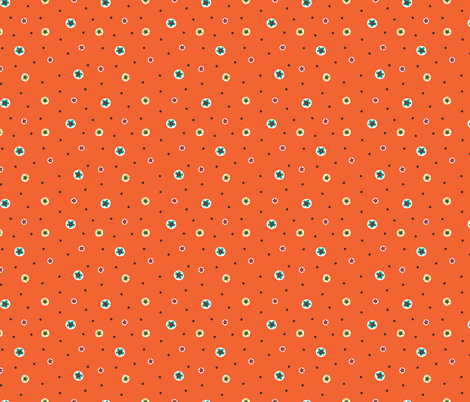 happy ditsy flowers & dots fabric by gracedesign on Spoonflower - custom fabric