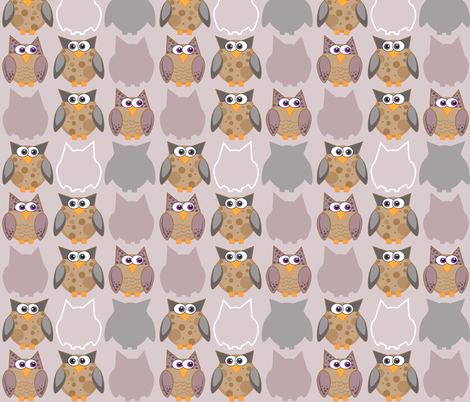 Who Gives a Hoot? fabric by dianef on Spoonflower - custom fabric