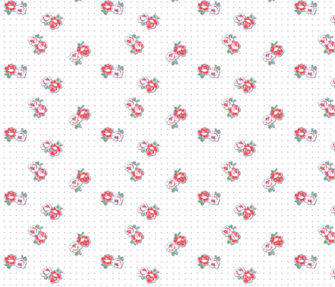 Feedsack Roses fabric by peagreengirl on Spoonflower - custom fabric