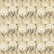 Autumn Dandelion Khaki  (Spoonflower Background)-ch