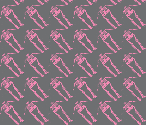Skewered Skeletons on Parade fabric by susaninparis on Spoonflower - custom fabric
