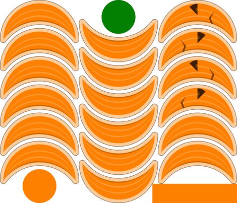 pumpkinhead cushion fabric by sef on Spoonflower - custom fabric