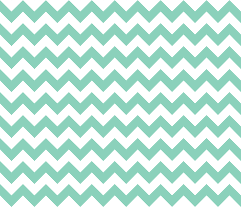 chevron_aqua fabric by walrus_studio on Spoonflower - custom fabric