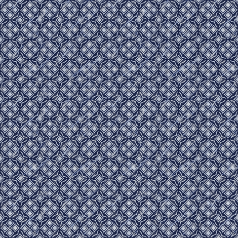 tiles blue inv fabric by glimmericks on Spoonflower - custom fabric