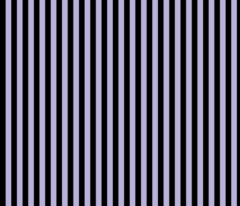 black and lavender half inch stripe fabric by littlemisscrow on Spoonflower - custom fabric