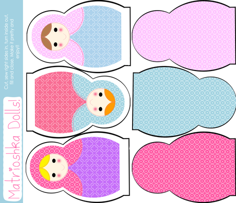 Fat Quarter Matrioshka Dolls fabric by natitys on Spoonflower - custom fabric