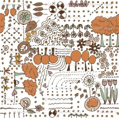 Ditsy Garden - brown