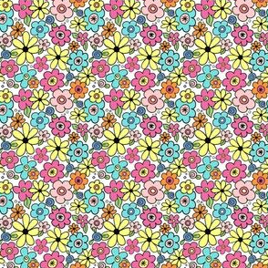 Colorful Ditsy Flowers
