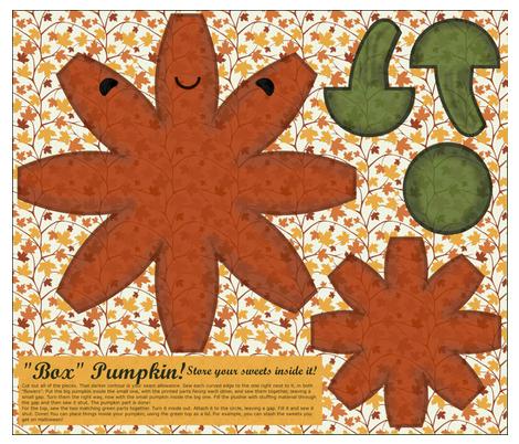 """Box"" Pumpkin! - Store your sweets inside it! fabric by shirayukin on Spoonflower - custom fabric"