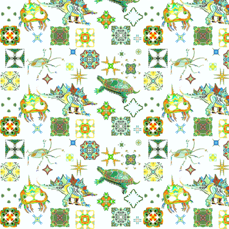 armored_disty-critters fabric by wren_leyland on Spoonflower - custom fabric
