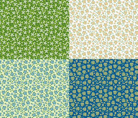 Flood of Flowers FQ 2-AIGD fabric by khowardquilts on Spoonflower - custom fabric