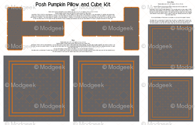 Posh Pumpkin Pillow and Cube Kit