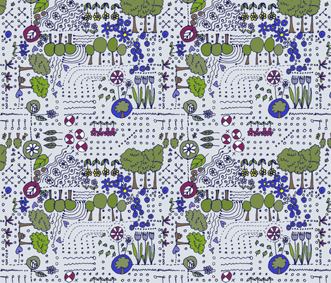 ditsy_again_mauve fabric by wiccked on Spoonflower - custom fabric