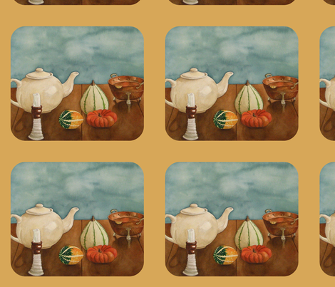 Autumn Table -Sand  fabric by painter13 on Spoonflower - custom fabric