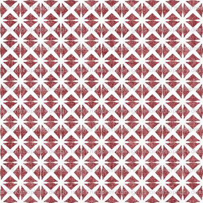 Linen Look Stars - Cherry