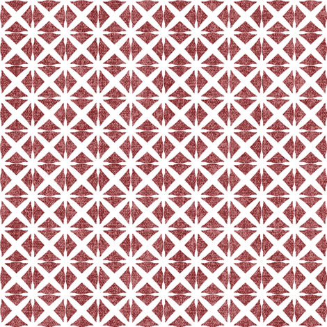 Linen Look Stars - Cherry fabric by kristopherk on Spoonflower - custom fabric