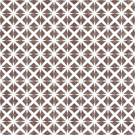 Linen Look Stars - Cinnamon fabric by kristopherk on Spoonflower - custom fabric
