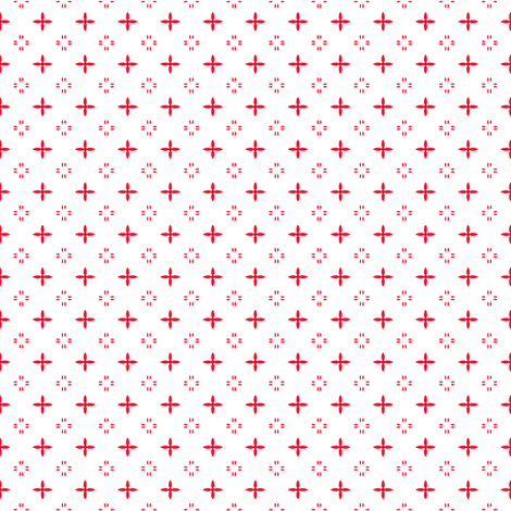 Ditsy print in a deep Christmas red on white fabric by bargello_stripes on Spoonflower - custom fabric