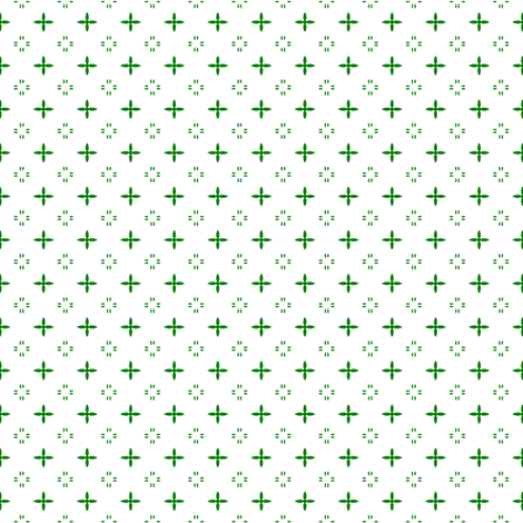 Ditsy print in a deep Christmas green on white
