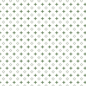 Ditsy print in a emerald on white