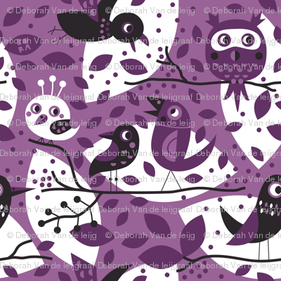 Birds in purple