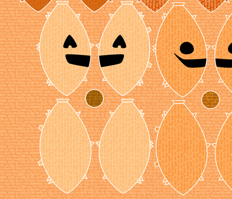 Five Little Pumpkins fabric by leighr on Spoonflower - custom fabric