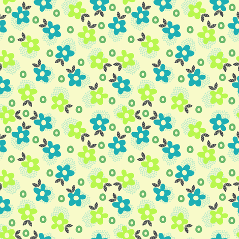Itsy Bitsy Ditsy (3) fabric by mondaland on Spoonflower - custom fabric