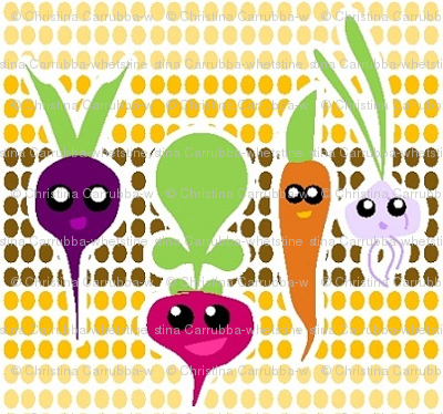 Kawaii Root Veggies
