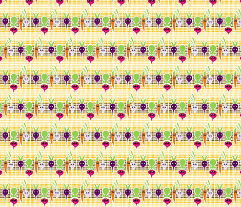 Kawaii Root Veggies fabric by ninjaauntsdesigns on Spoonflower - custom fabric