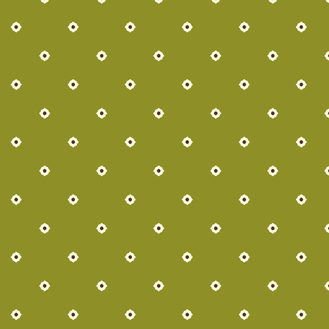 Dot Floral - Autumn Green fabric by inscribed_here on Spoonflower - custom fabric