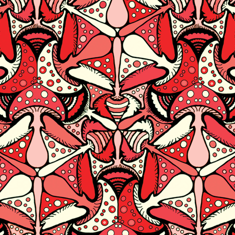 Amanita muscaria fabric by beth_snow on Spoonflower - custom fabric