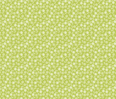 Hexy Flower (green) fabric by mondaland on Spoonflower - custom fabric