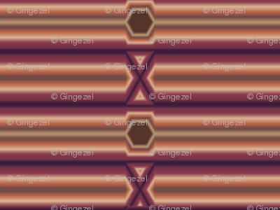 Broken Horizontal Stripe in wine and chocolate © Gingezel™ Inc. 2011