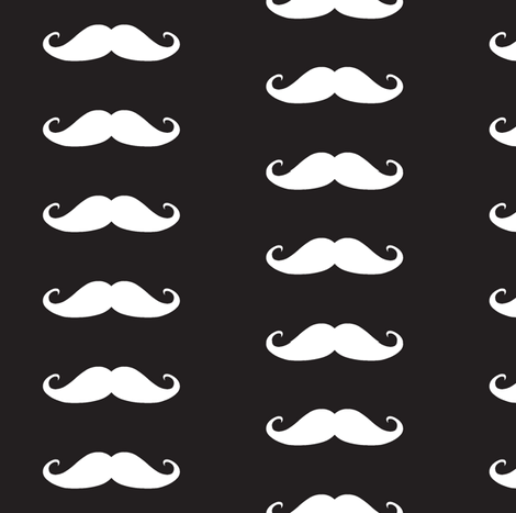 Moustache fabric by littlebeardog on Spoonflower - custom fabric