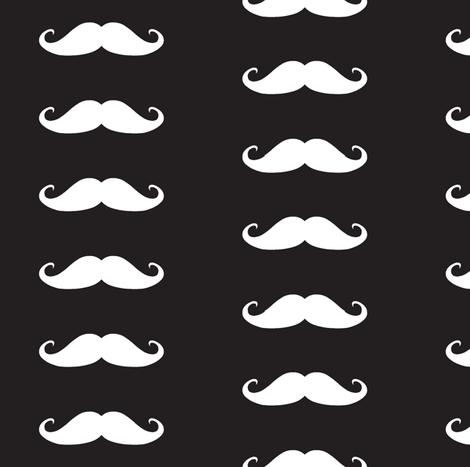 Moustache fabric by littlebeardog on Spoonflower - custom fabric