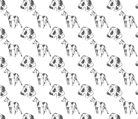 Great Danes - harlequin  fabric by rusticcorgi on Spoonflower - custom fabric