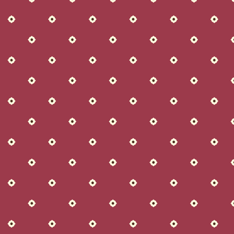 Dot Floral - Autumn Berry fabric by inscribed_here on Spoonflower - custom fabric