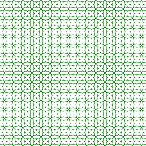 Circles and squares in Christmas green on white