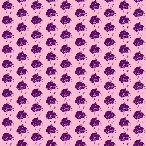Rose icecream-plum-small fabric by miss_blümchen on Spoonflower - custom fabric