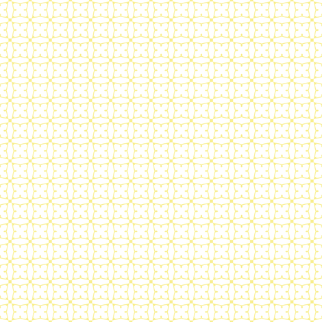 Circles and squares in pale yellow on white fabric by bargello_stripes on Spoonflower - custom fabric