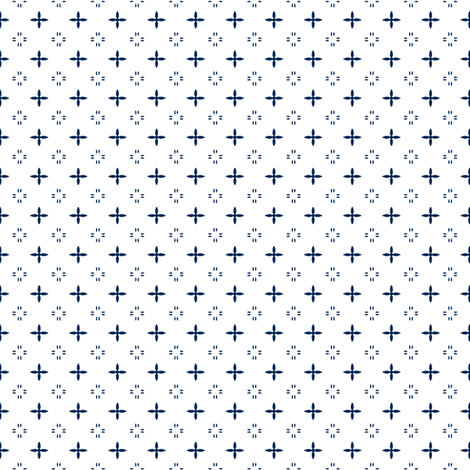 Ditsy print in navy on white fabric by bargello_stripes on Spoonflower - custom fabric