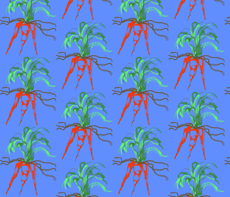 Summer Salad: Blue Carrot fabric by dssheck on Spoonflower - custom fabric