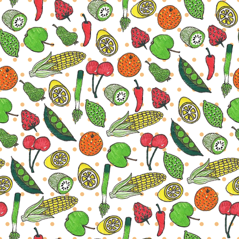 Fruity fabric by candyjoyce on Spoonflower - custom fabric