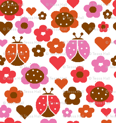 Happy Patch Garden - Sweet (Spoonflower Colors)