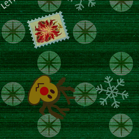letters to rudolph fabric by paragonstudios on Spoonflower - custom fabric