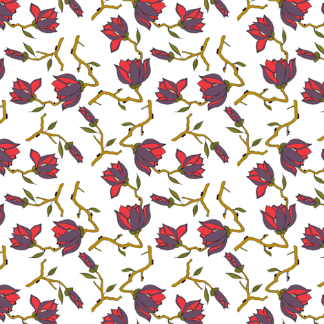 Jackmani White Small fabric by mag-o on Spoonflower - custom fabric