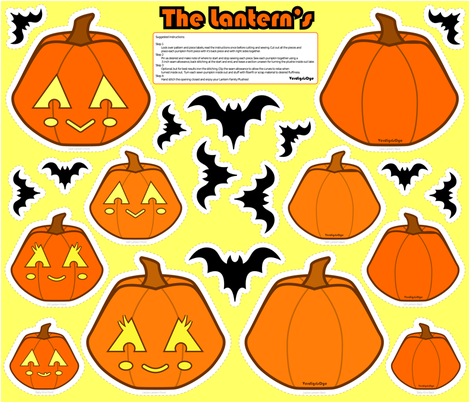 Jack O Lantern Family Plushies fabric by verdigrisdye on Spoonflower - custom fabric