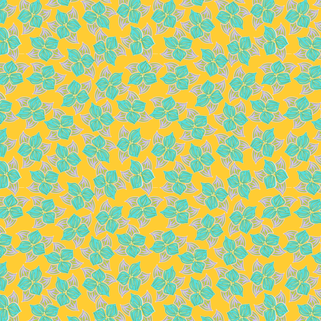 tropical_trillio fabric by glimmericks on Spoonflower - custom fabric