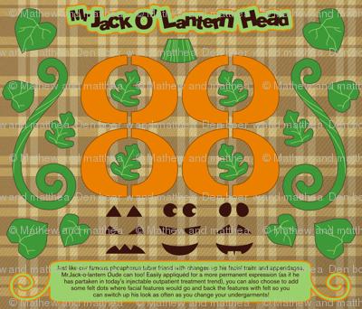 Mr Jack O'Lantern Head
