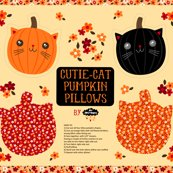 Cutie-Cat Pumpkin Pillows